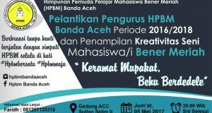 5 Mei 2017; Pengurus HPBM Banda Aceh 2016-2018 Dilantik