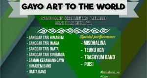 15 Mei 2017, Ada Pentas Gayo Art To The World di Taman Budaya Sumut