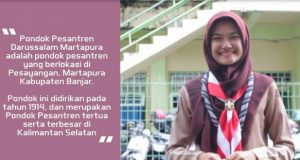 Pramuka Cantik ini Promosikan Pesantren Tertua di Kalimantan