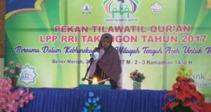 26 Peserta Ikuti PTQ LPP RRI di Masjid Nur Nabawi Bener Meriah