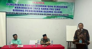 Guru PAI se-Aceh Ikuti Pengayaan Pembelajaran Kurikulum 2013