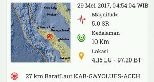 Subuh, Gayo Lues Digoyang Gempa 5 SR