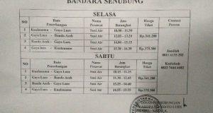 Ini Jadwal dan Tarif Tiket Penerbangan Bandara Senubung Gayo Lues