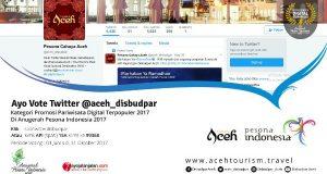 Lokasi Surfing Lhoknga dan Twitter Disbudpar Aceh Nominasi Anugerah Pesona Indonesia 2017