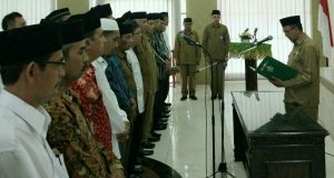 Kakanwil Kemenag Aceh Lantik 29 Pejabat Eselon IV