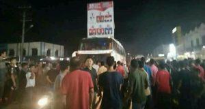 Bus Putra Pelangi Tabrak Pelintas di Matang Glp Dua, Sopir Nyaris Diamuk Massa