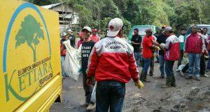 Lebaran, Ketiara Coffee Gayo Bersih Sampah di 4 Desa