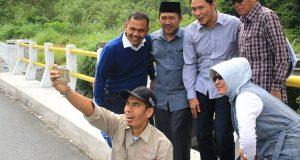 Dua Jembatan di Bener Meriah Kelar, Dananya Pakai Aspirasi Ramadhana Sebesar Rp9 Milyar