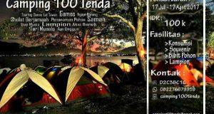 Pendaftaran Camping 100 Tenda di Lut Tawar Telah di Buka