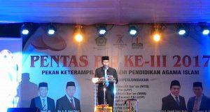 Kadis Pendidikan Aceh Tutup Kegiatan PENTAS PAI Ke-III