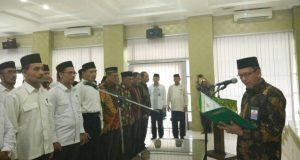 Kakanwil Kemenag Aceh Lantik 19 Pejabat Eselon IV