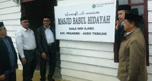 Kakanwil Kemenag Aceh Namai Masjid Kala Wih Ilang Babul Hidayah, Kenapa?