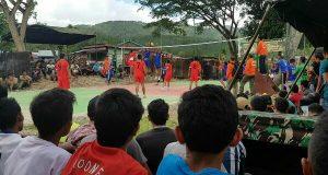 Warga Antusias Saksikan Penyisihan Turnamen Bola Voly Dandim 0113/GL Cup