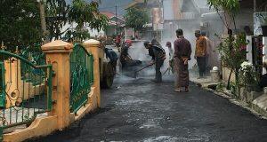 Jalan Dusun Paya Ilang Kembali Diaspal