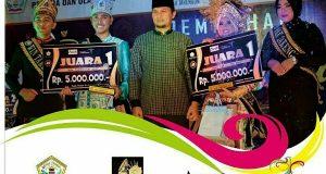 Toni dan Jurtana Duta Wisata Aceh Tengah 2017