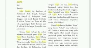 Ini Tanggapan Atas Tulisan Asal-Usul Kata 'GAYO' Yusra Habib Abdul Gani