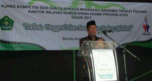Kakanwil Kemenag Buka Kompetisi Seni dan Olah Raga Madrasah se-Aceh