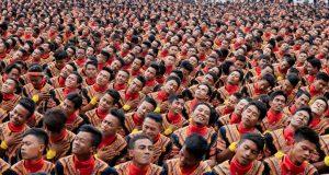 Barisan Penari Saman Mulai Padati Lapangan Pagelaran