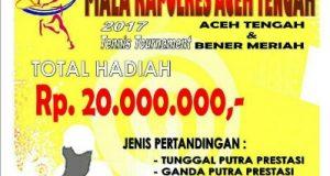 Berhadiah 20 Juta, Turnamen Tenis Kapolres Aceh Tengah Cup Digelar