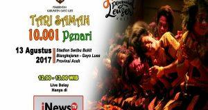 iNews TV Siarkan Live Delay Saman Massal 10001 Penari