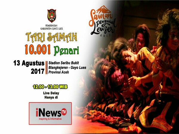 INews TV: INews TV Siarkan Live Delay Saman Massal 10001 Penari