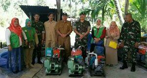 Distan Bersama Dandim 0108/Agara Serahkan Pompa Air ke Petani
