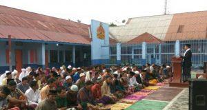 Khatib Iedul Adha di Lapas Takengon, ini yang Disampaikan Kepala KUA Jagong