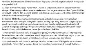 Terkait Operasi Militer dan Kekerasan Terhadap Rohingya, ini Pernyataan Sikap Gubernur Aceh