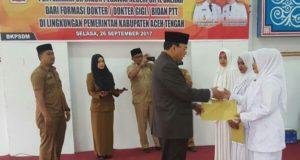 254 Tenaga Kesehatan PTT Aceh Tengah Terima SK CPNS