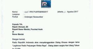 Peringati Hari Radio Nasional, Bupati Ahmadi Narsum Dialog Legitimasi RRR