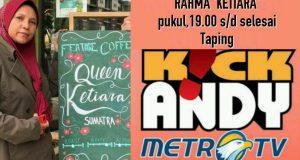 [Kamis 7 September 2017] Rahmah Ketiara Kopi Gayo Taping Kick Andy
