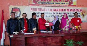 DPD PSI Aceh Tengah Resmi Mendaftar ke KIP
