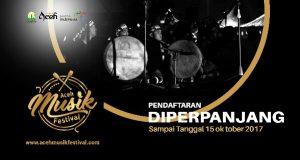 Pendaftaran Aceh Musik Festival Diperpanjang Hingga 15 Oktober