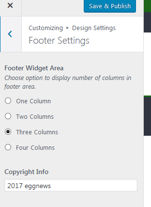 design setting footer2