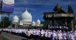 Bupati Ahmadi, Jadi Irup Hari Santri Ke 3 di Bener Meriah