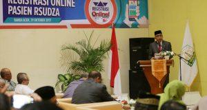 Wagub Resmikan Sistem Registrasi Online Pasien RSUDZA