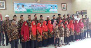 Wabup Agara Bukhari Lepas 85 Kafilah MTQ ke Aceh Timur