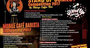 Segera, Cafe Mobile Barista Championship dan Stand Up Comedy 2017