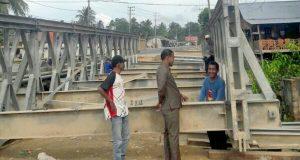 Jelang MTQ Aceh XXXIII Di Aceh Timur, Jembatan Bailey Segera Difungsikan