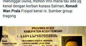 [Pemberitahuan] Lakalantas di Lhokseumawe Pemuda Asal Pejebe Aceh Tengah M Naufal Arianda Meninggal Dunia