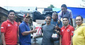 DPC Partai Gerindra Bireuen Serahkan Bantuan untuk Korban Banjir Lhoksukon