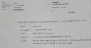 Tanggulangi Konflik Gajah, Bupati Ahmadi Akan Gelar Rapat Bersama Wakil Gubernur Aceh