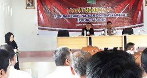 Forum Kewaspadaan Dini Masyarakat Gelar Rakor Se-Aceh di Bener Meriah