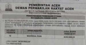 Nyoe Peumeunang Numboi Sa Himne Aceh