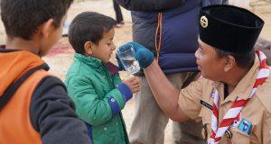 Pramuka Salurkan Bantuan Bagi Pengungsi Palestina dan Suriah