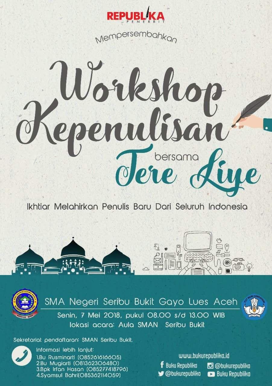 Besok Penulis Ternama Indonesia Tere Liye Isi Workshop Di Gayo Lues Negeri Para Bedebah