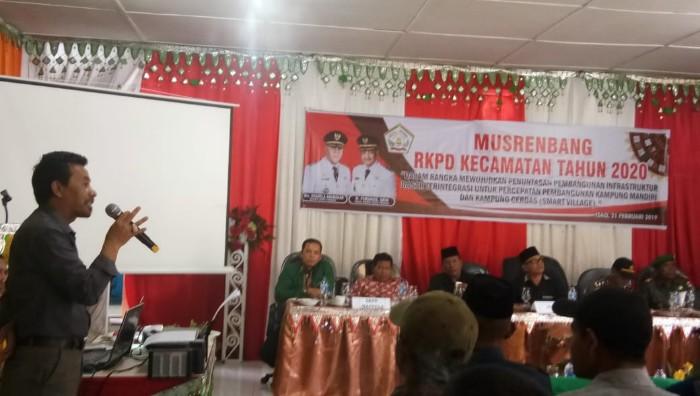 Joni MN di Musrenbang Kecamatan Linge