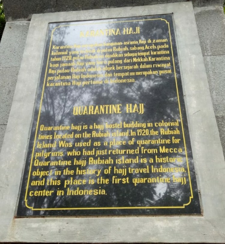 Asrama Haji di Pulau Rubiah (Ist)