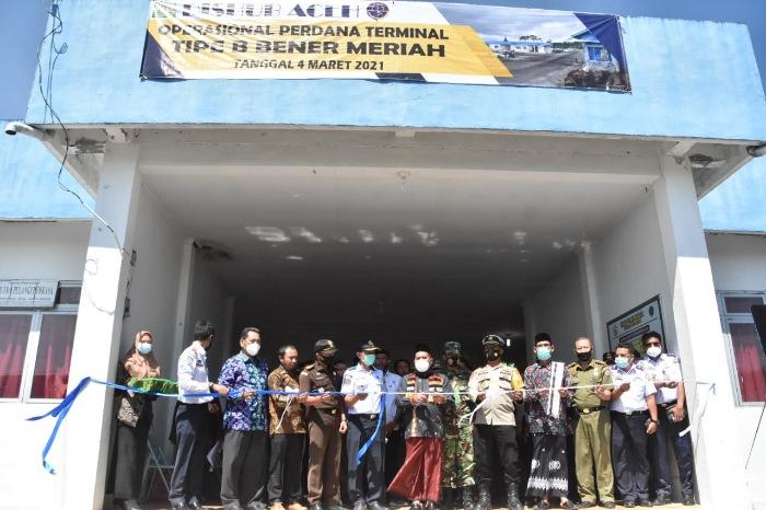 Terminal Tipe B Dan Angkutan Barang Bener Meriah Diresmikan Lintas Gayo